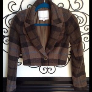 Opening Ceremony wool plaid crop blazer XS